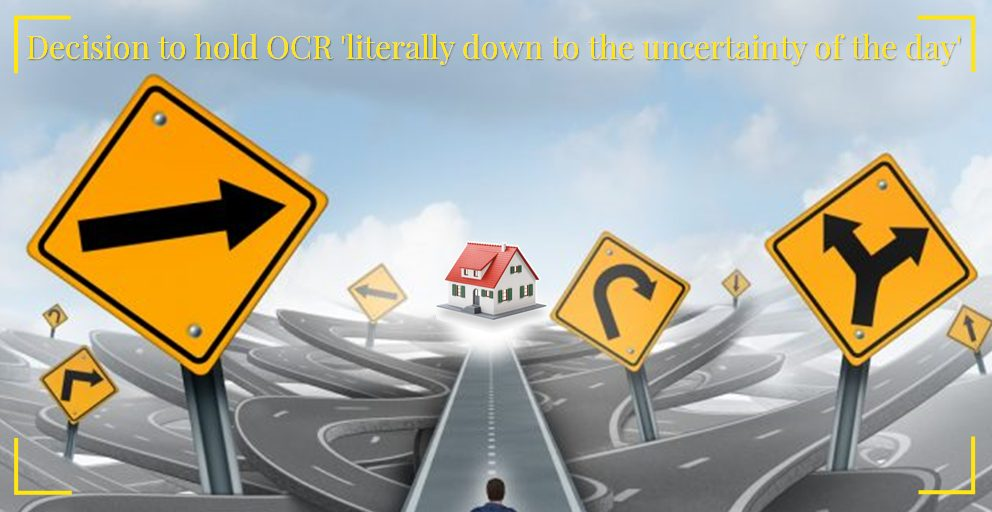 Decision to hold OCR literally down to the uncertainty of the day